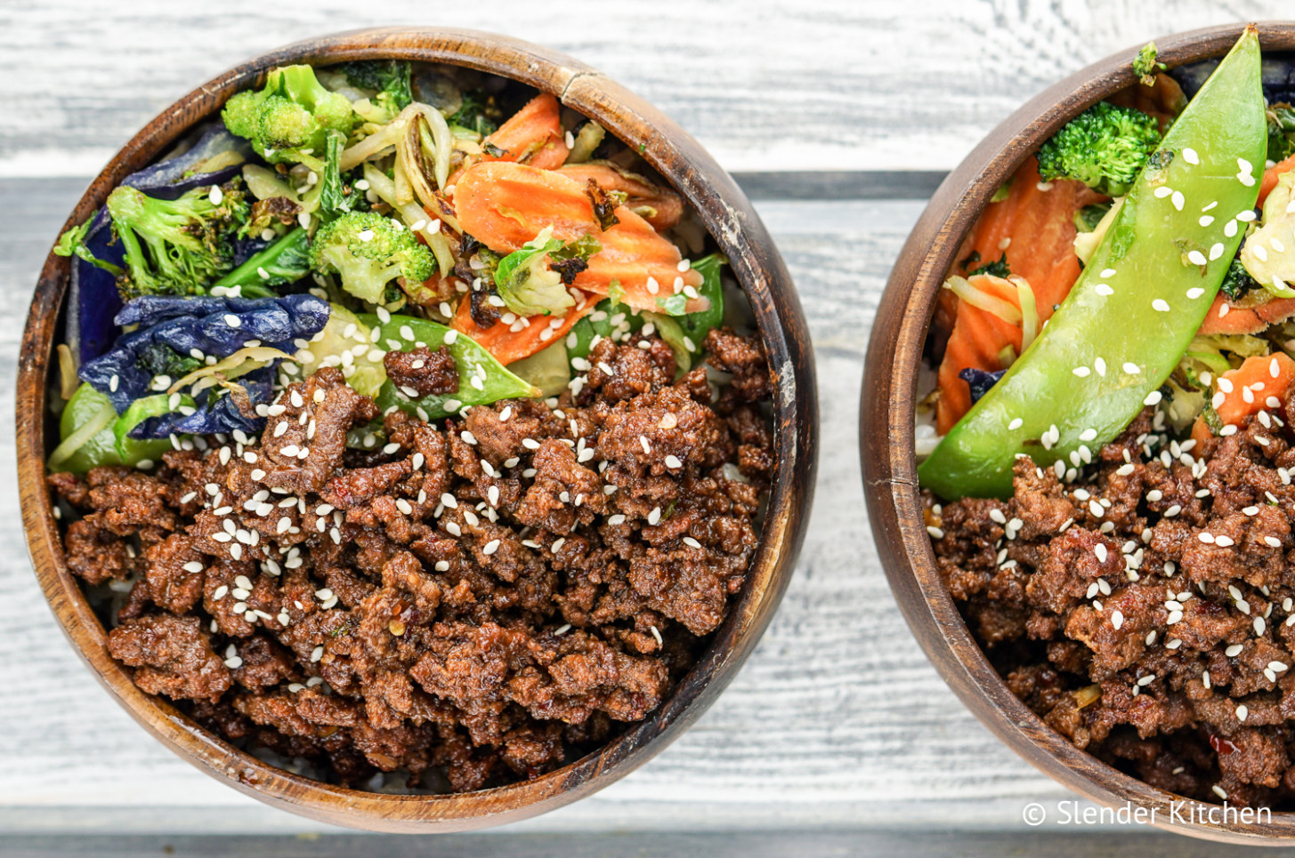 Healthy Korean Ground Beef with Vegetables - Slender Kitchen - recipes using ground beef healthy