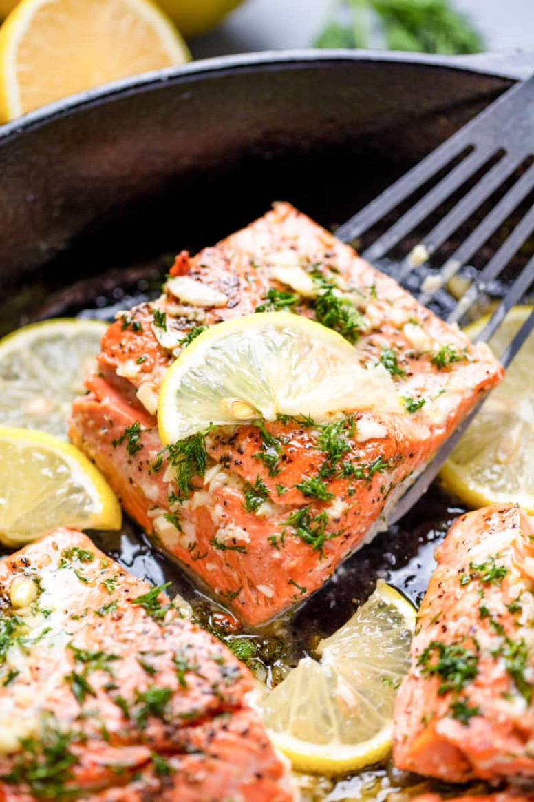 Healthy Lemon Garlic Salmon - food recipes low in potassium