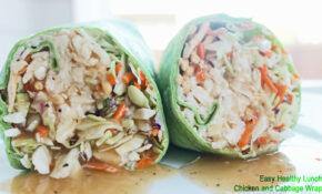 Healthy Lunch Recipe: Chicken And Cabbage Wrap | Clean ..