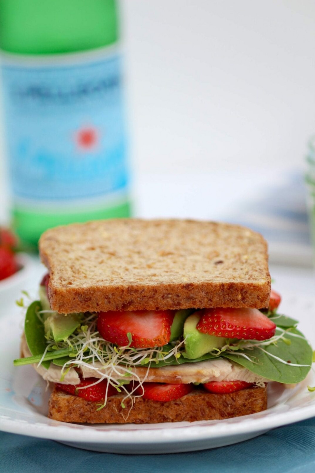 healthy lunch: strawberry spinach sandwich | nourish move love - recipes lunch healthy
