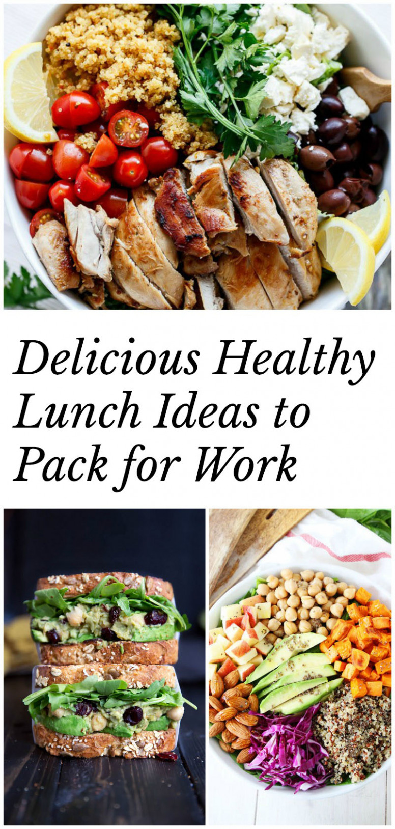 healthy lunches to pack for work - healthy recipes for lunch