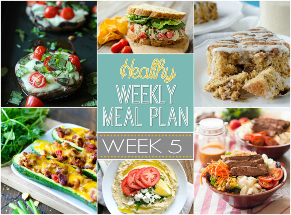 Healthy Meal Plan Week 5 - healthy recipes for a week