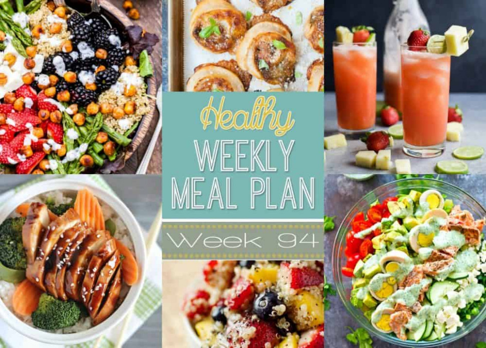 Healthy Meal Plan Week #94 | Easy Healthy Recipes Using ..