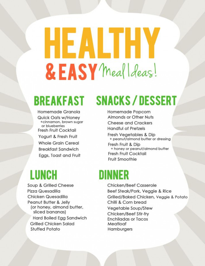 Healthy Meal-Planning Ideas - See more delicious dinner ..
