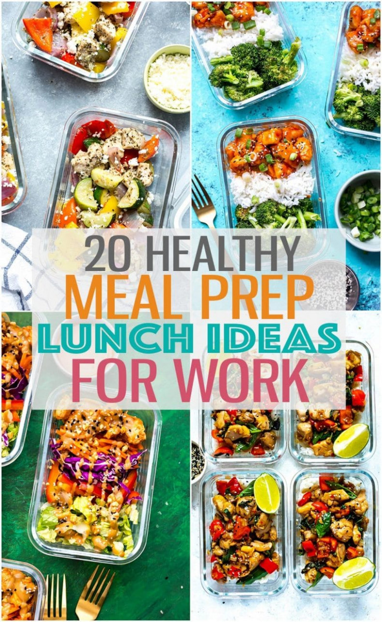 Healthy Meal Prep Lunch Ideas for Work - healthy recipes at home