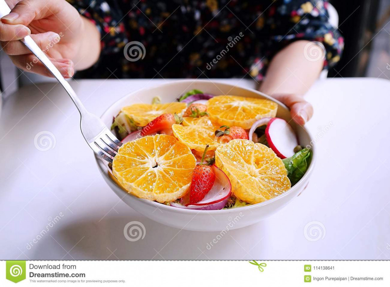 Healthy Meals, Diet Recipes, Hand Are Using Fork And Handing ..