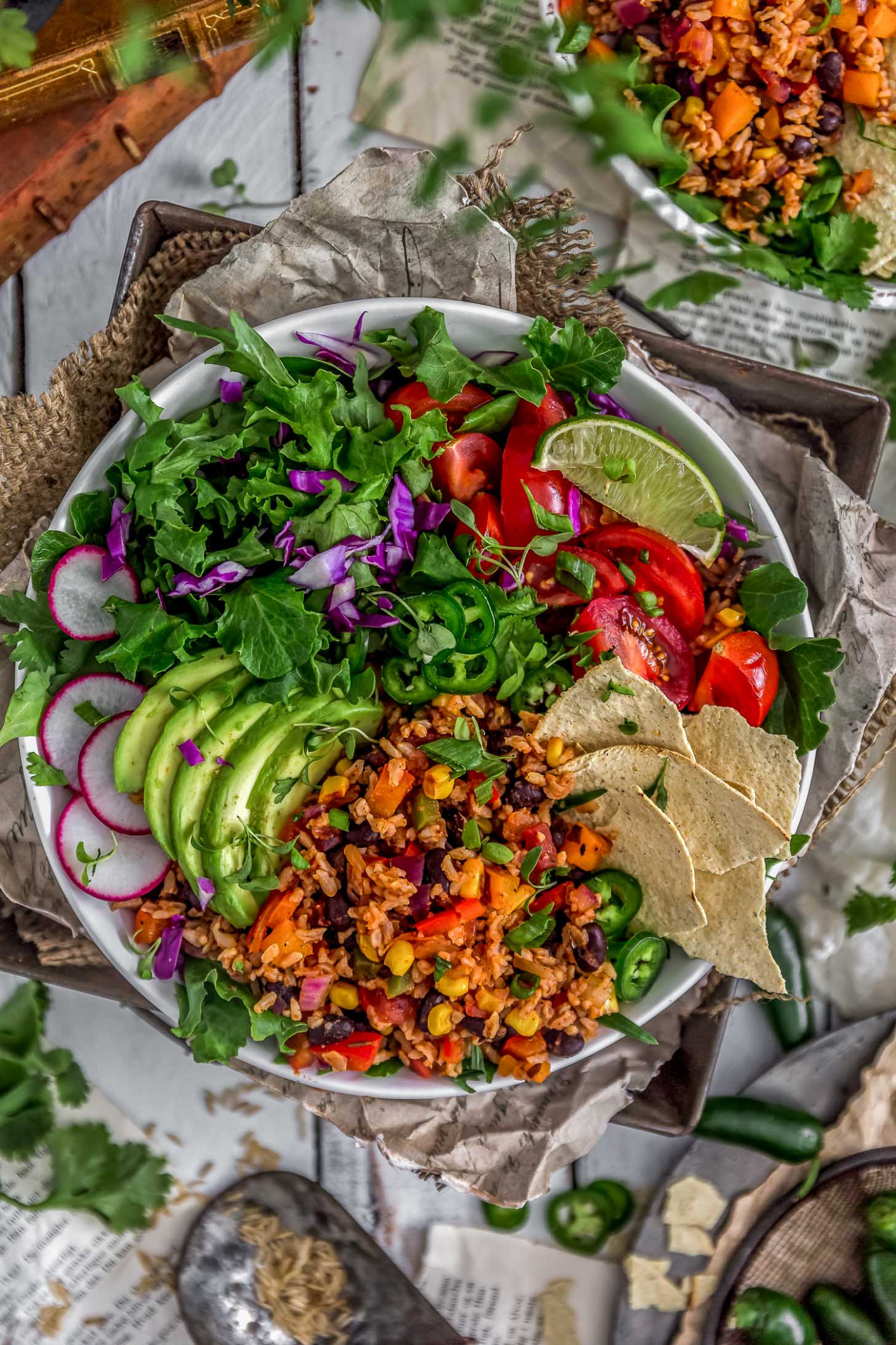 Healthy Mexican Fried Rice - plant based recipes dinner