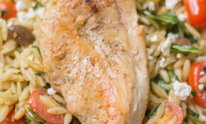 Healthy One Pan Mediterranean Chicken Orzo – Mediterranean Recipes Chicken