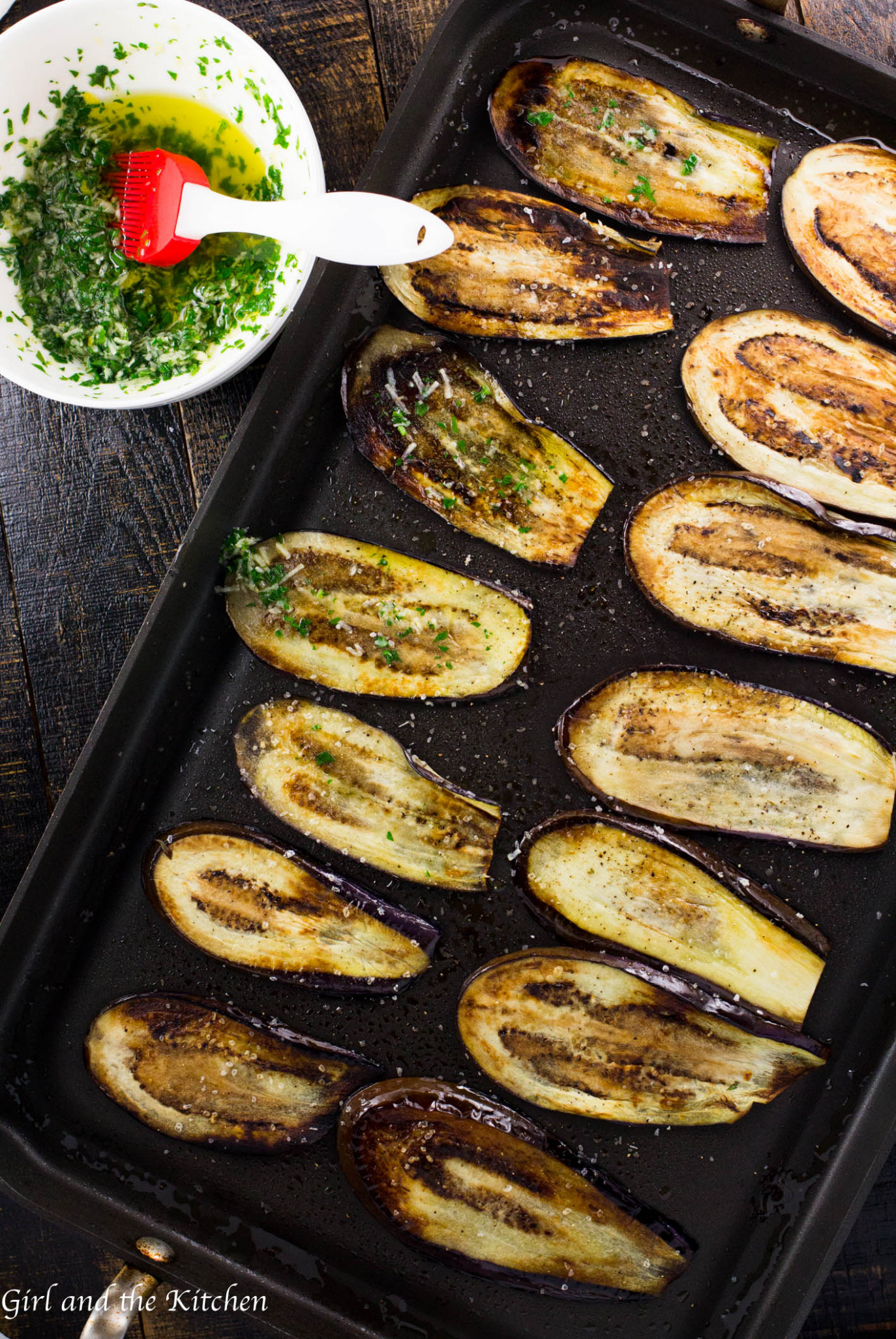 Healthy Pan Fried Baby Eggplant with Gremolata - Girl and ..