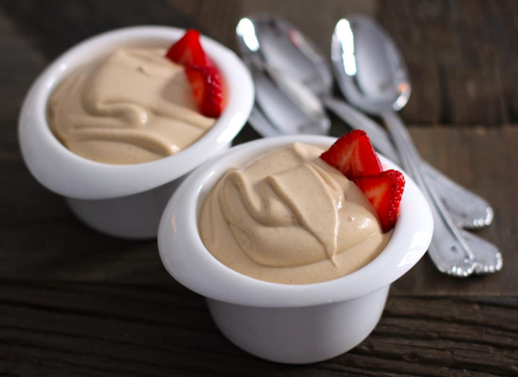 Healthy Peanut Butter Mousse - recipes desserts healthy