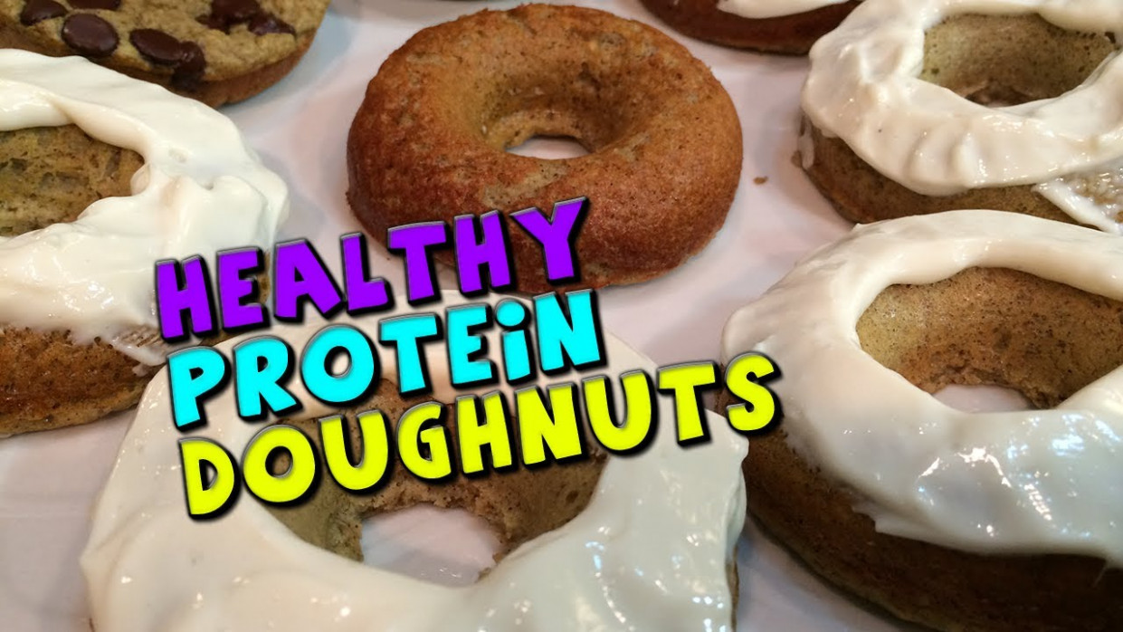 Healthy PROTEIN Doughnuts Recipe (Low Sugar) - YouTube - healthy recipes youtube channels