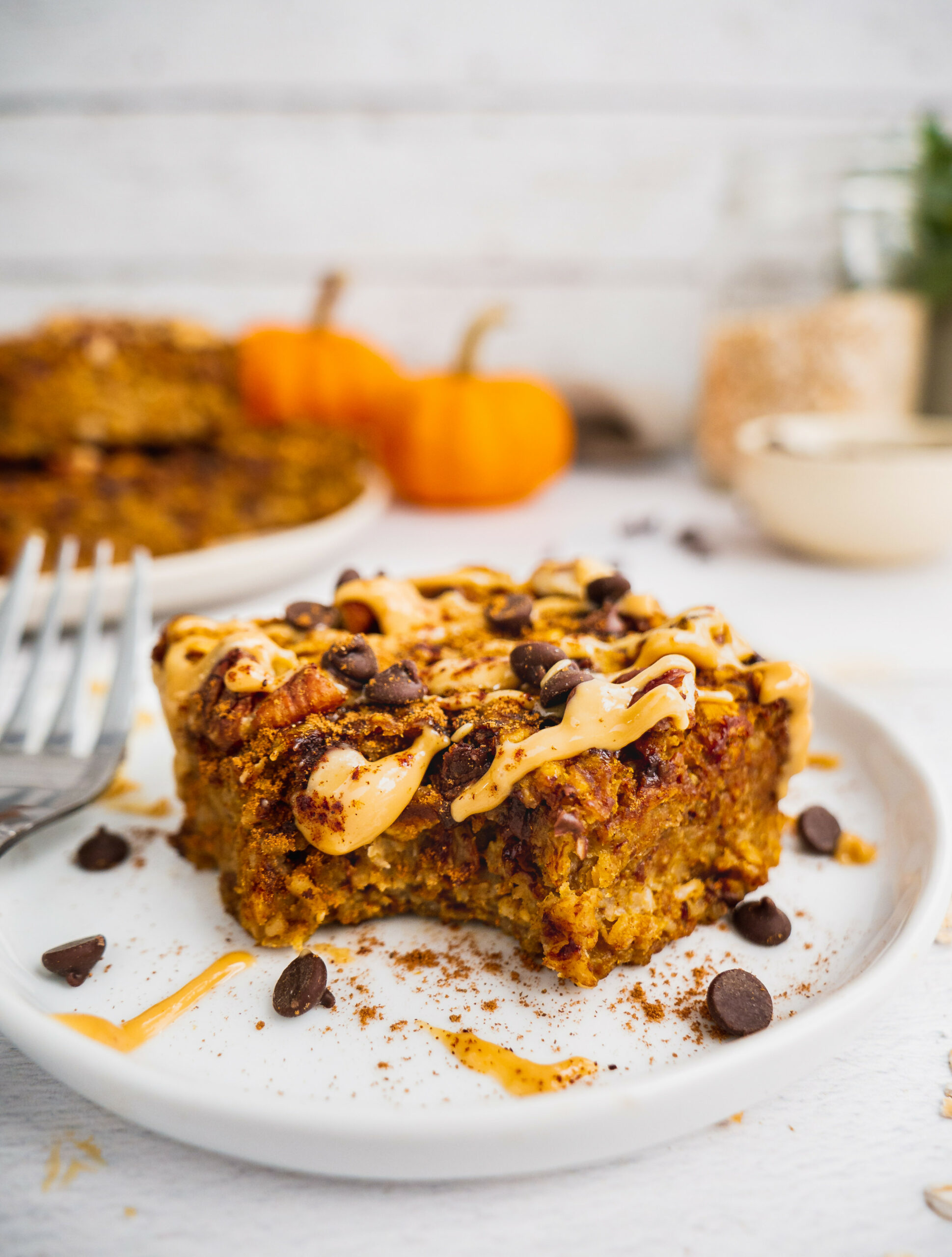 HEALTHY PUMPKIN OATMEAL BARS (GLUTEN FREE, VEGAN) - Recipes Breakfast Bars Healthy