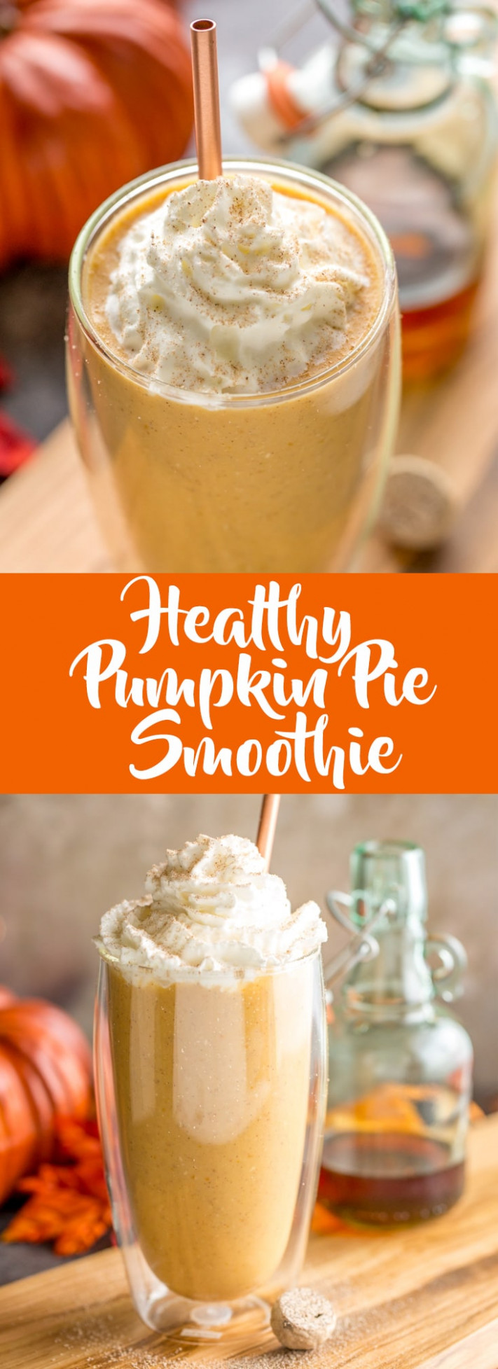 Healthy Pumpkin Pie Smoothie - Fox and Briar - recipes canned pumpkin healthy