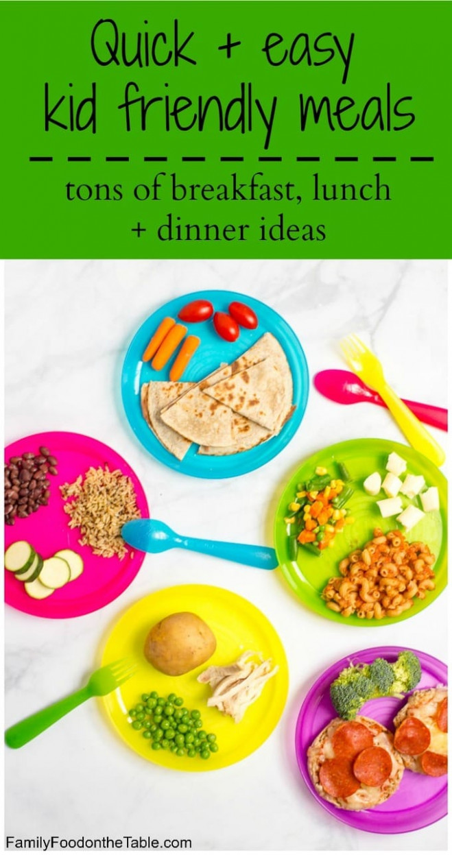 Healthy, Quick Kid Friendly Meals - Family Food On The Table - Dinner Recipes Quick Family