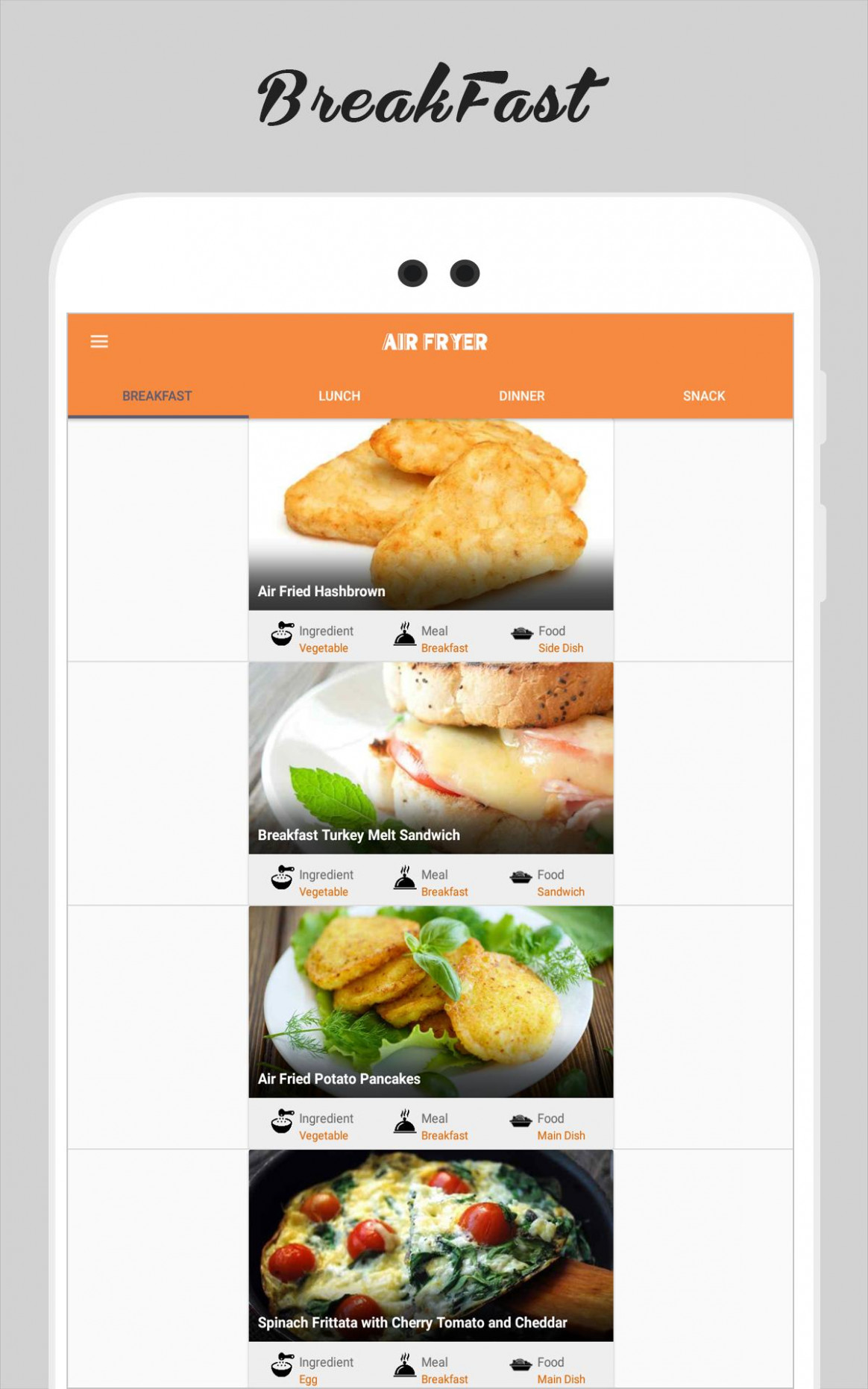 Healthy Recipes ebook - Free Recipe App for Android - APK ...