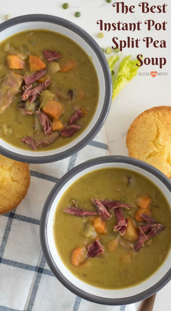 Healthy Recipes : Quick and easy Instant Pot Split Pea Soup ..