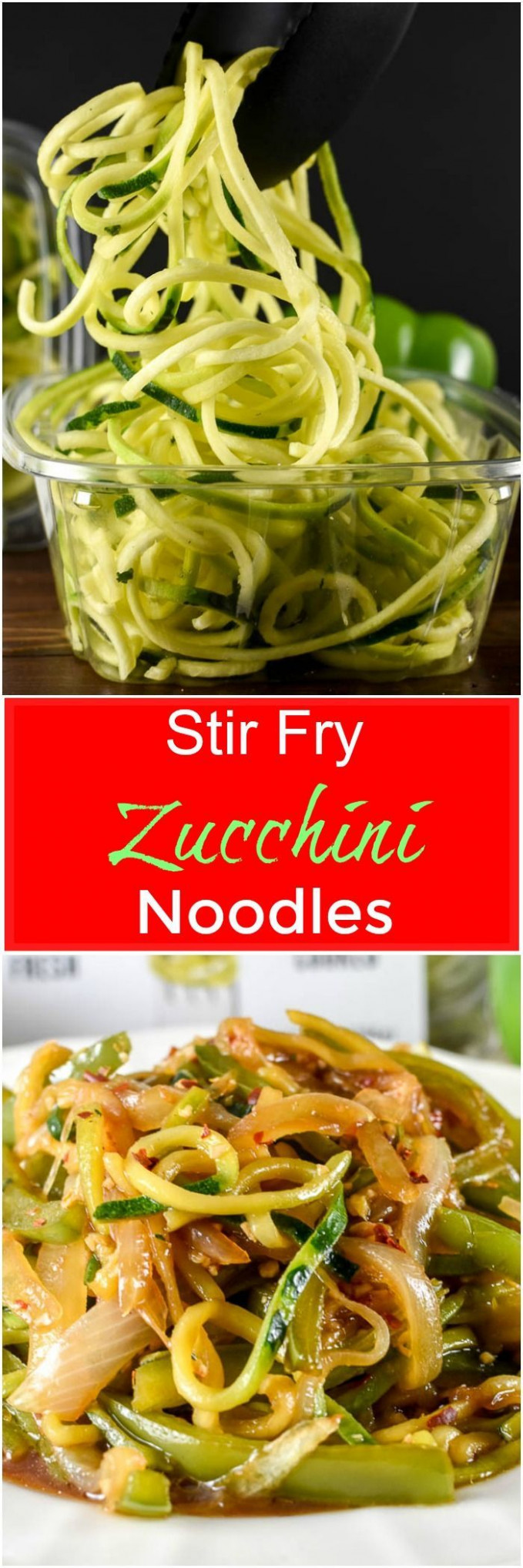 Healthy Recipes : Stir Fry Zucchini Noodles, or zoodles ..