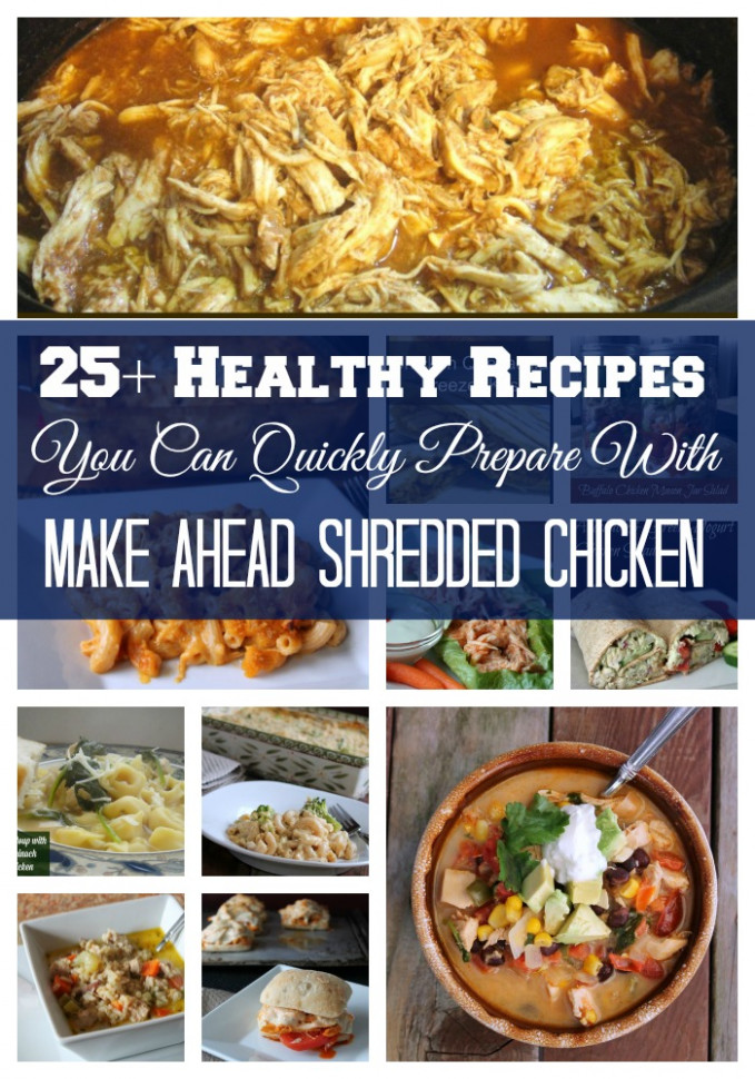 Healthy Recipes You Can Prepare Using Shredded Chicken - recipes you can make with chicken