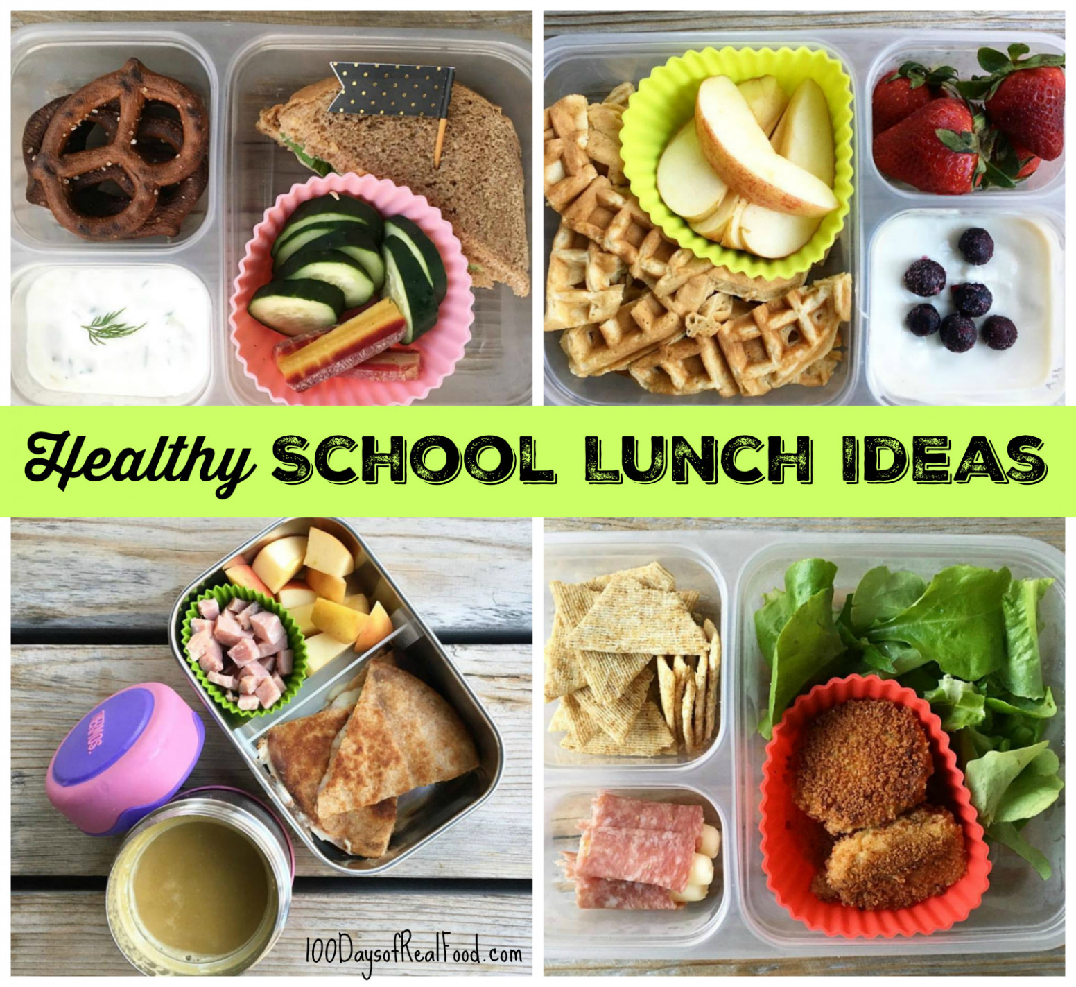 Healthy School Lunch Ideas (Roundup 12!) - recipes for lunch healthy