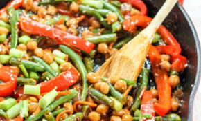 Healthy Sesame Orange Ginger Chickpea Stir Fry | Ambitious ..