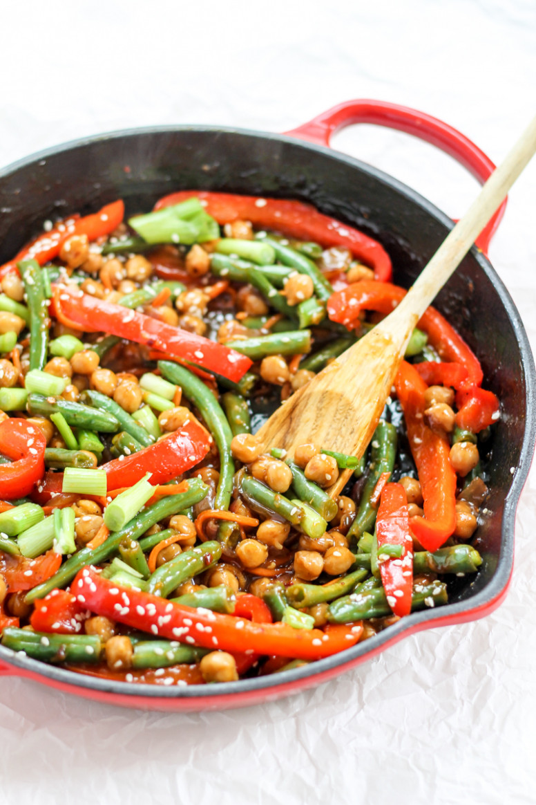 Healthy Sesame-Orange Ginger Chickpea Stir-Fry | Ambitious ..