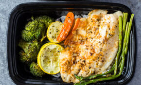 Healthy Sheet Pan Tilapia and Veggies + Meal-Prep