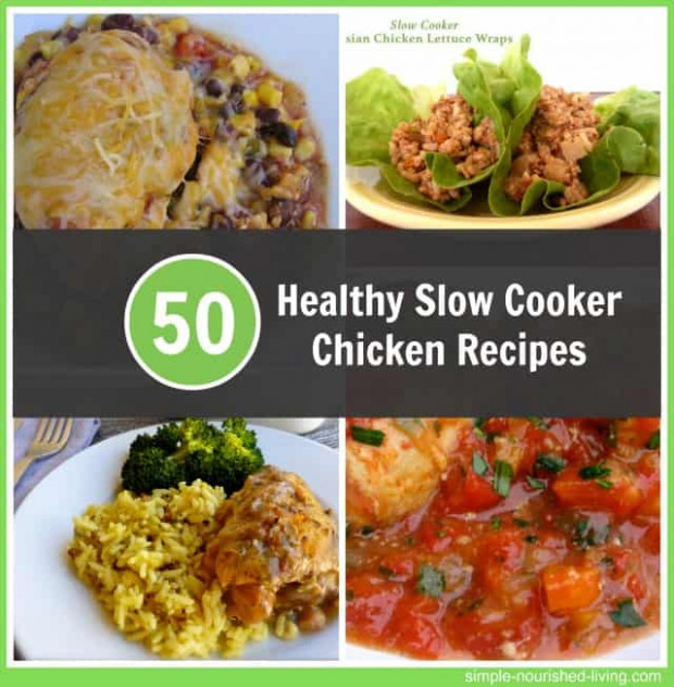 Healthy Slow Cooker Chicken Recipes for Weight Watchers - healthy chicken recipes in slow cooker