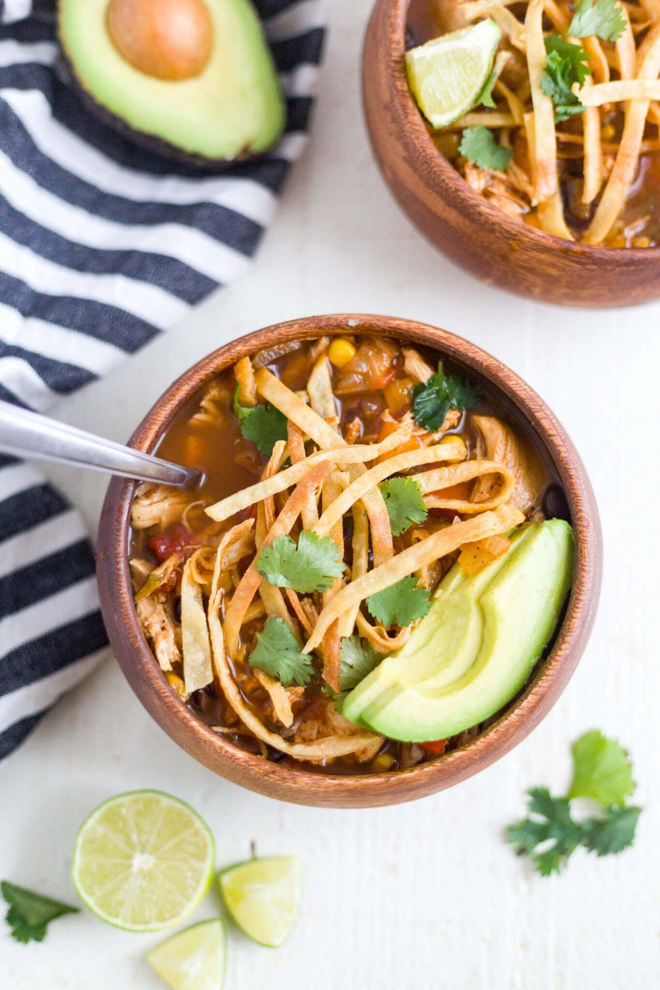 Healthy Slow Cooker Chicken Tortilla Soup - Healthy Slow Cooker Recipes Chicken