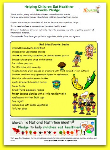 Healthy Snacks for Kids- Helping kids choose healthier ..