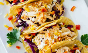 Healthy Sriracha Shredded Chicken Tacos – Jar Of Lemons – Chicken Recipes Quick And Easy For Dinner