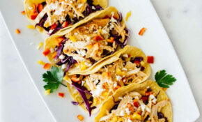 Healthy Sriracha Shredded Chicken Tacos – Recipes For Dinner Healthy