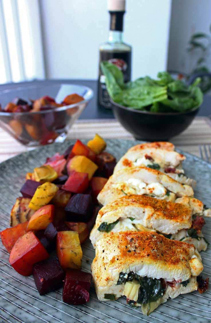 Healthy Stuffed Chicken Breast | Diabetes Strong - quick and easy healthy dinner recipes for two