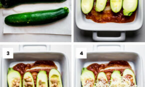 Healthy Stuffed Zucchini Boats – Zucchini Boat Recipes Vegetarian