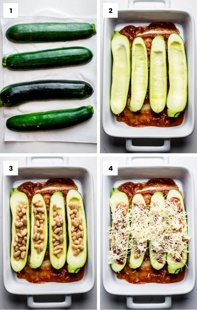 Healthy Stuffed Zucchini Boats - zucchini boat recipes vegetarian