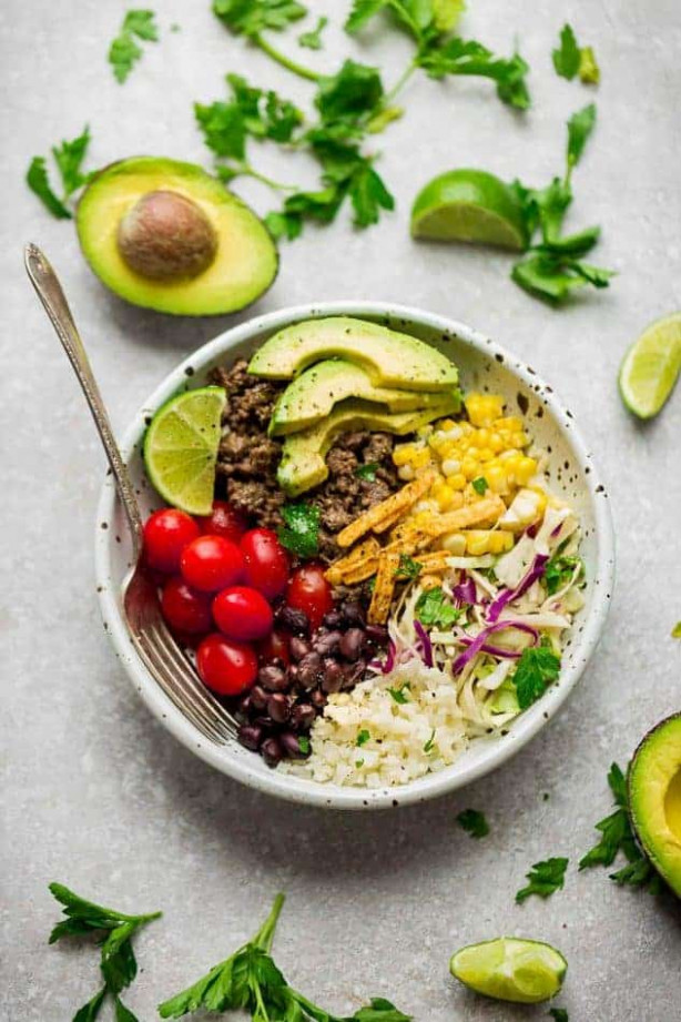 Healthy Taco Bowls - Best Low Carb, Keto & Meal Prep Options - healthy keto dinner recipes