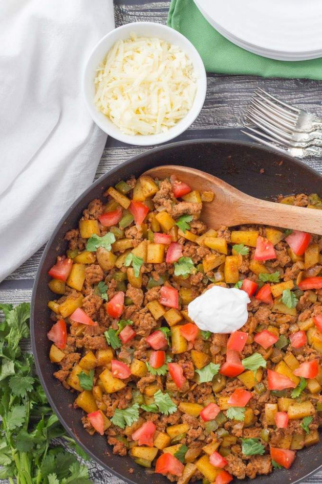 Healthy taco turkey and potato skillet - Family Food on ..