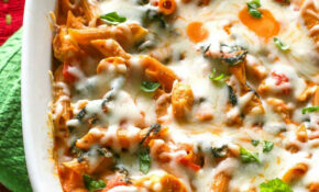 Healthy Three Cheese Chicken Penne Pasta Bake – The Girl ..