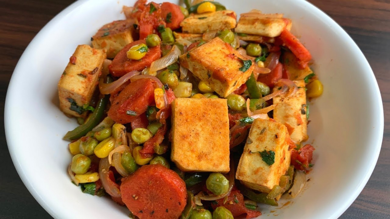 Healthy tofu with stir fried vegetables | Weight loss recipe | Diet recipe  | Vegan recipe - healthy recipes diet