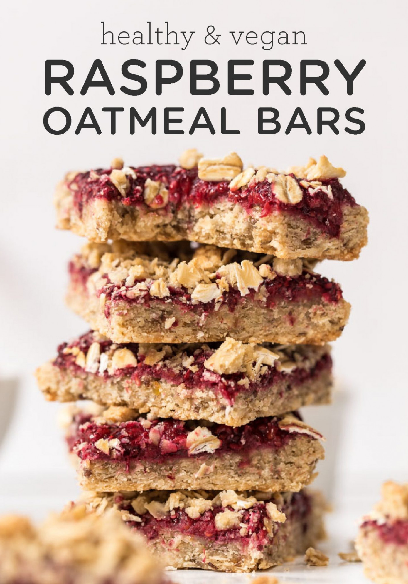 Healthy Vegan Raspberry Oatmeal Bars - recipes breakfast bars healthy