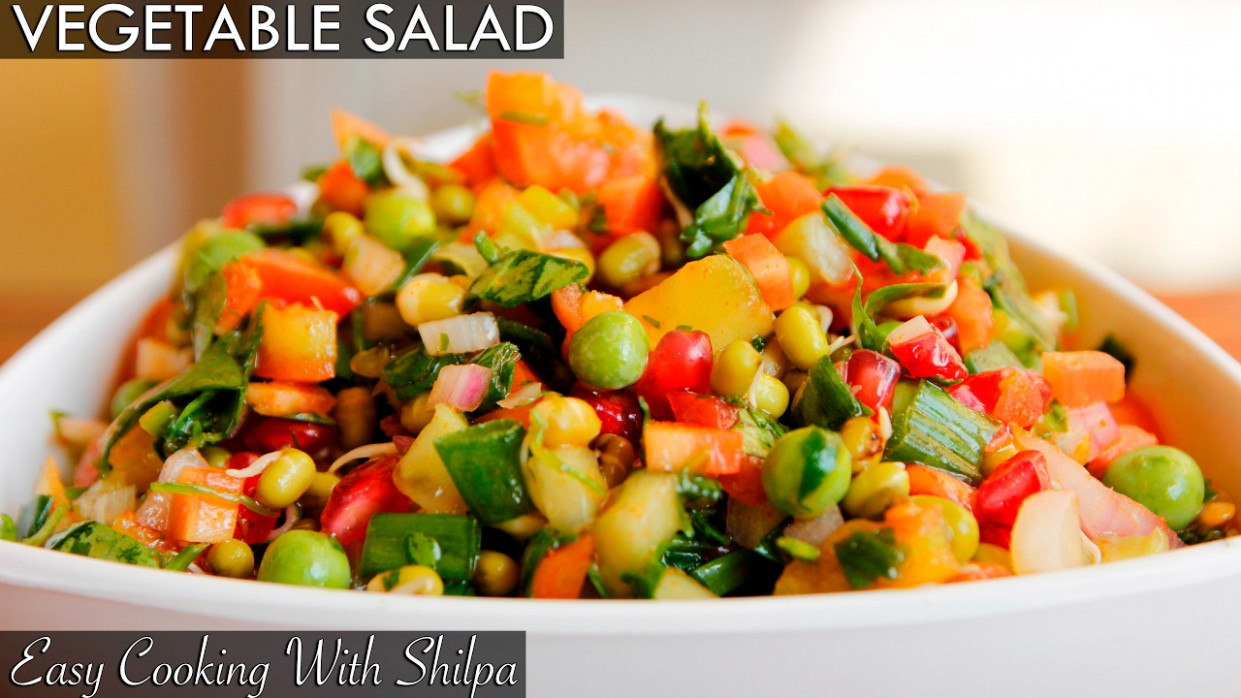 Healthy Vegetable Salad Recipe   Quick and Easy Vegetable ..