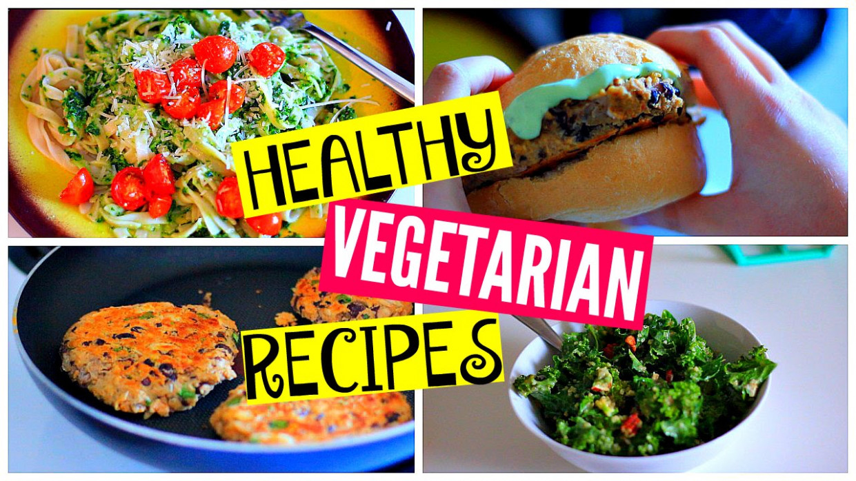 Healthy Vegetarian Dinner Recipes: Kale Salad, Burgers, Pasta - dinner recipes hamburger
