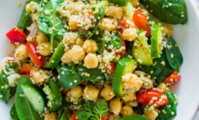 Healthy Vegetarian Quinoa Chickpea Spinach Salad | Salads ..