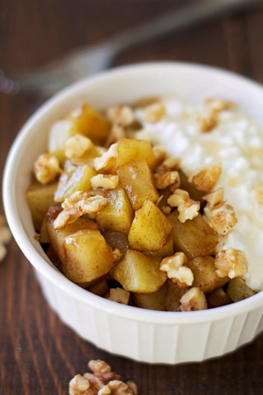 Healthy Warm Cinnamon Apple Mess - Apple of My Eye - healthy recipes using apples