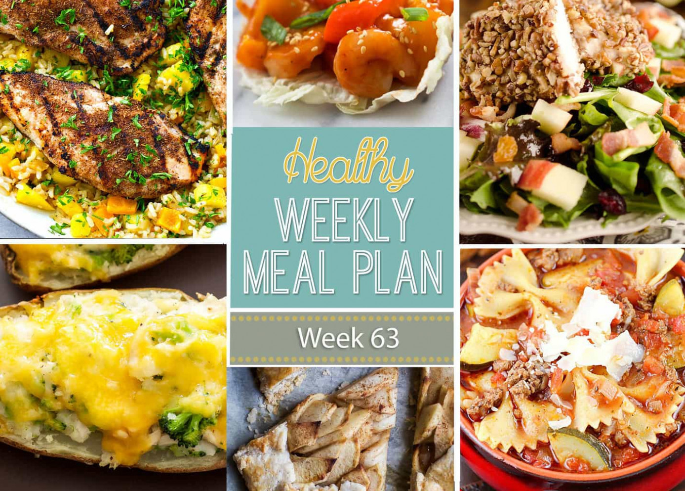 Healthy Weekly Meal Plan #13 - Yummy Healthy Easy - best fall recipes dinner