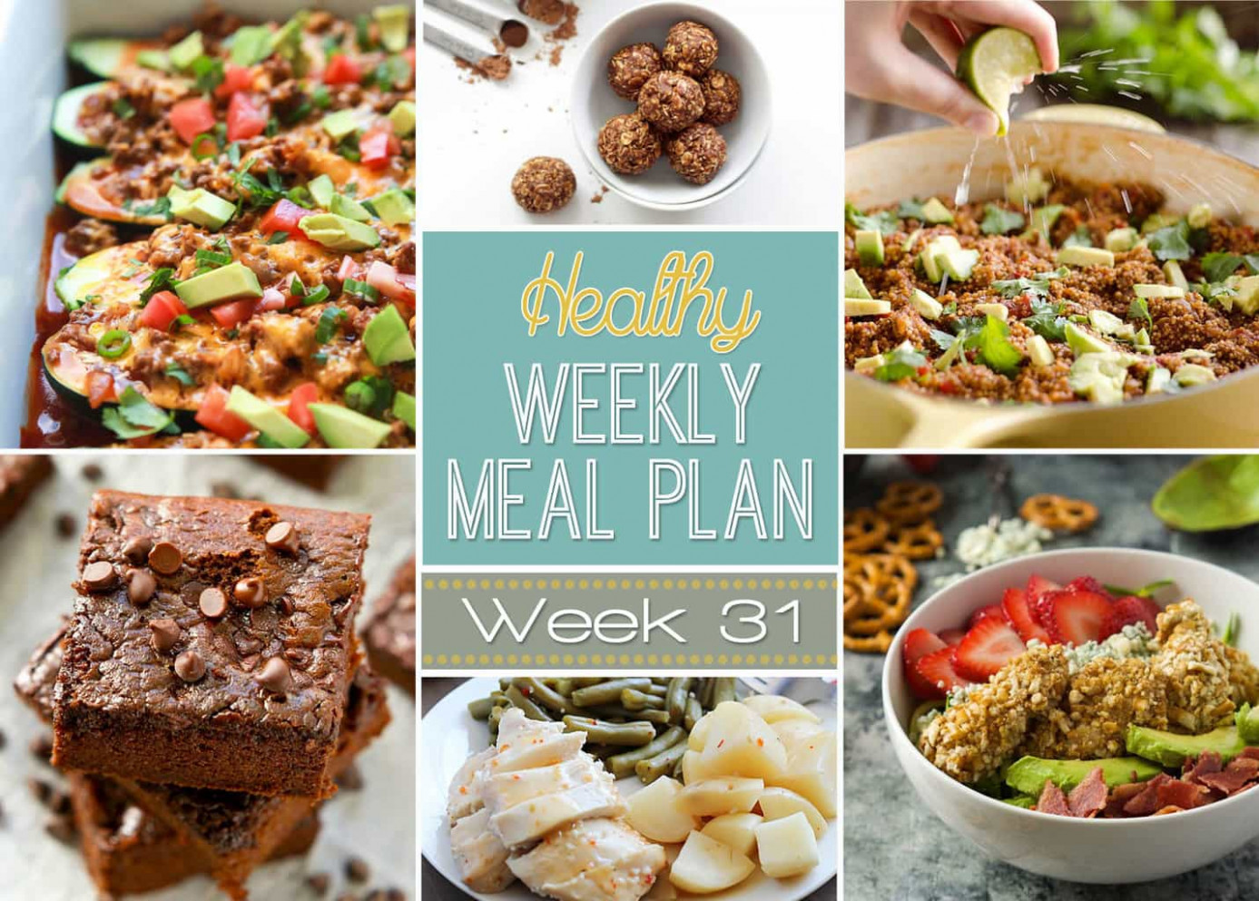 Healthy Weekly Meal Plan #31 - Yummy Healthy Easy - healthy recipes meal plan