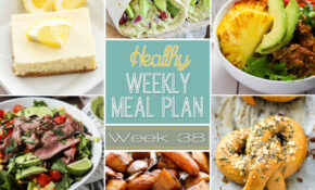 Healthy Weekly Meal Plan #38 - Recipe Runner