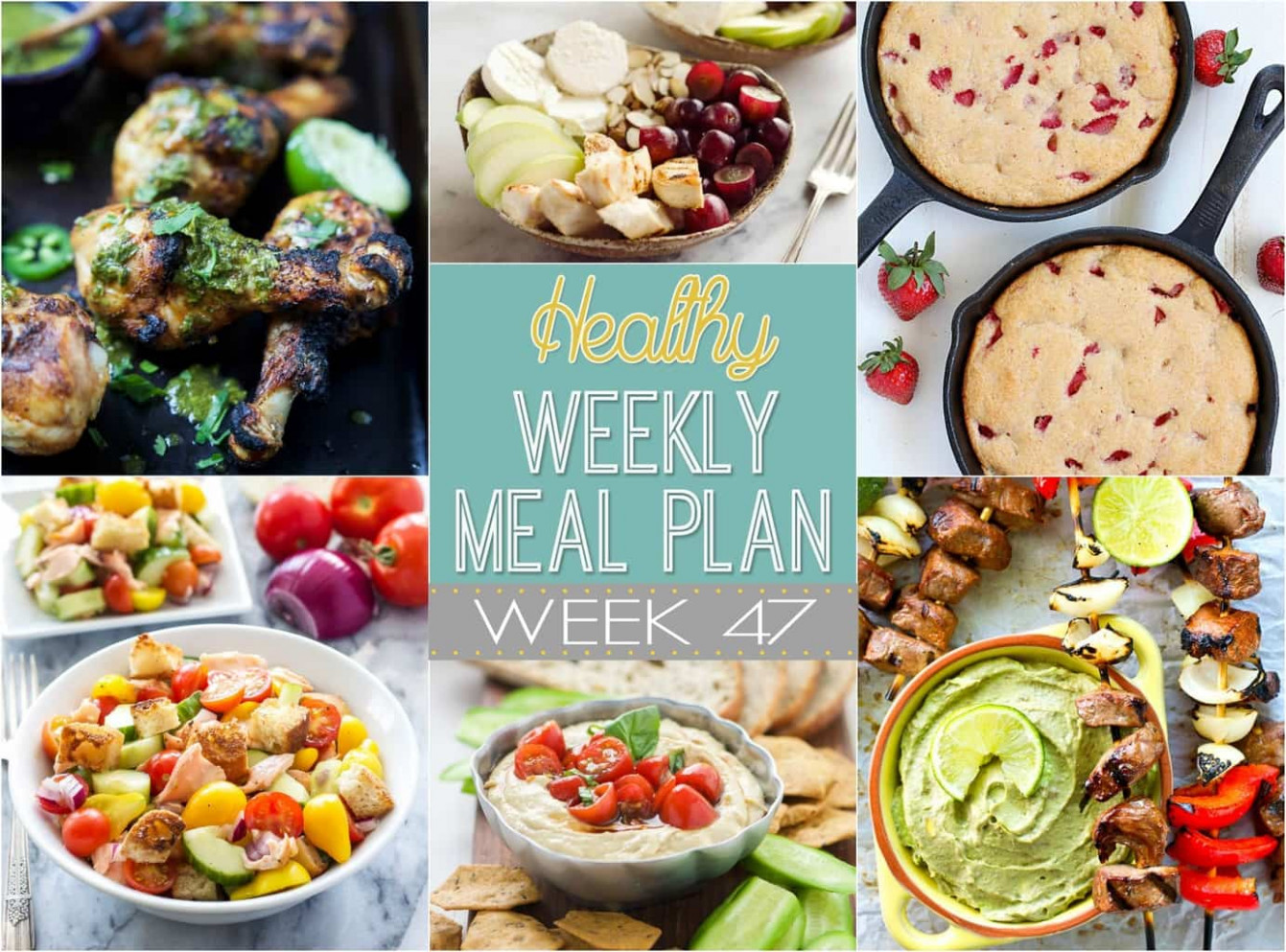 Healthy Weekly Meal Plan #47 - Yummy Healthy Easy