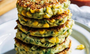 Healthy Zucchini Corn Fritters – Making Thyme For Health – Zucchini Recipes Vegetarian