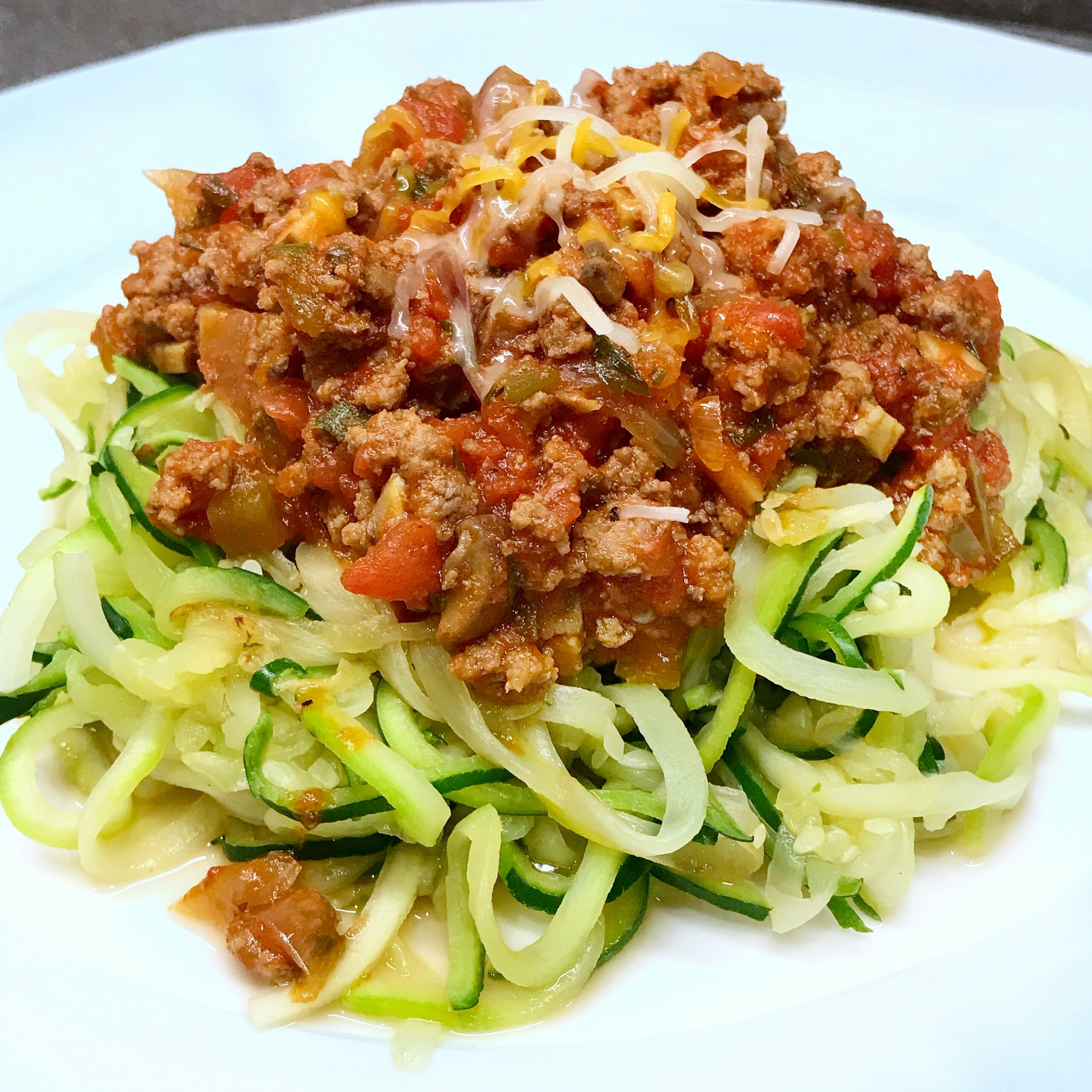 Hearty Bolognese With Zucchini Noodles - Healthy With ..