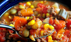 Hearty Chicken And Vegetable Soup In The Slow Cooker Recipe – Recipes For Slow Cooker Vegetarian